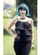 SALE - NECESSARY EVIL Lucina Gothic Layered Mesh Top | Ladies Gothic Clothing